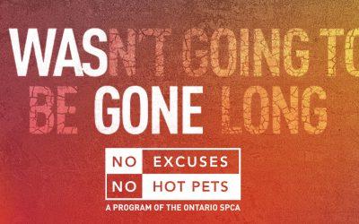 "Take the ""No Hot Pets"" Pledge"