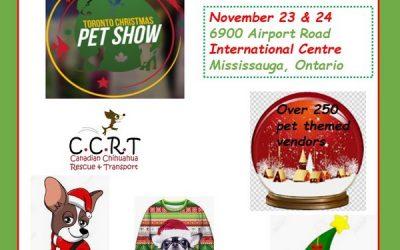 CCRT will be at Toronto Christmas Pet Show